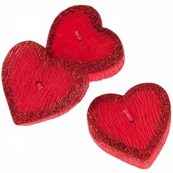 kalp şekilli mumluk modeli