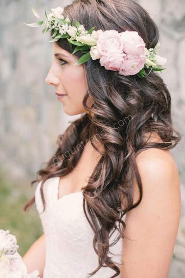 Rustik Gelin Saçı Modeli