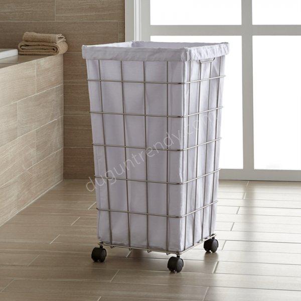 metal kirli çamaşır sepeti modeli