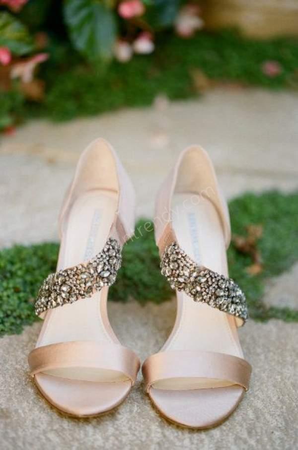 Saten Pastel Renkte Abiye Ayakkabısı
