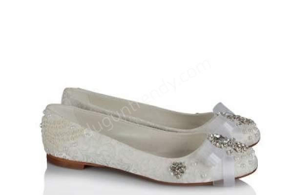 ışıltılı babet tarz gelin ayakkabısı modeli