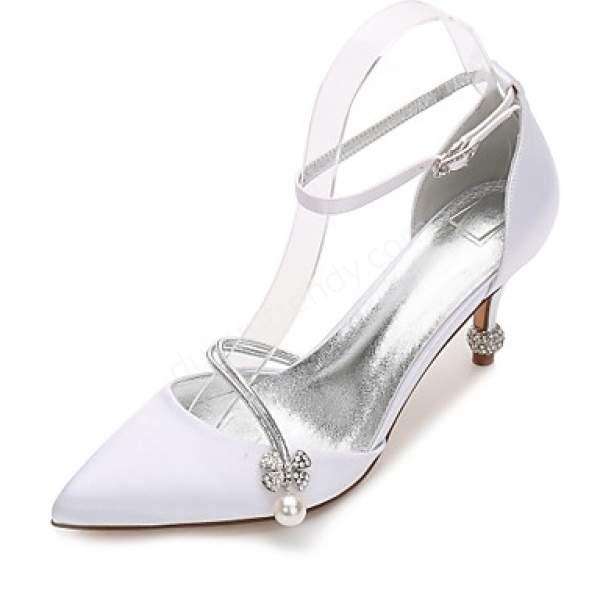 Retro tarzda gelin ayakkabısı modeli