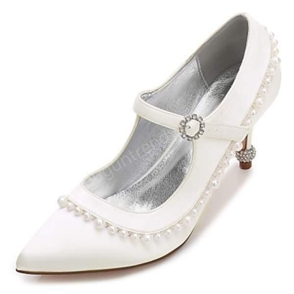 sivri burunlu gelin ayakkabısı modeli