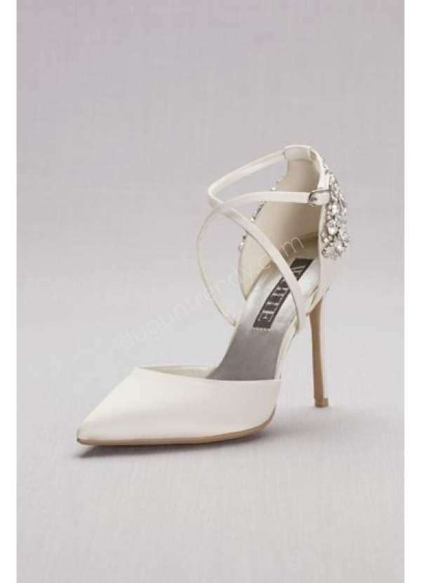 sivri burunlu gelin ayakkabısı modellleri