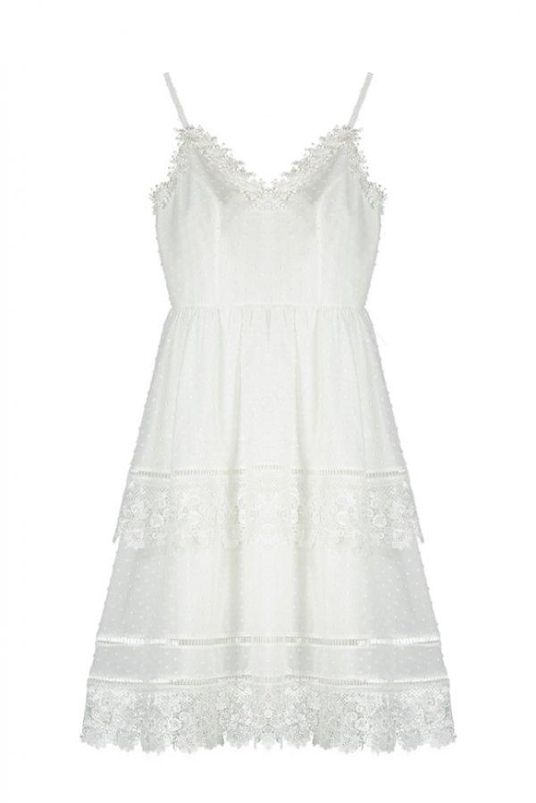 askılı kısa elbise modeli