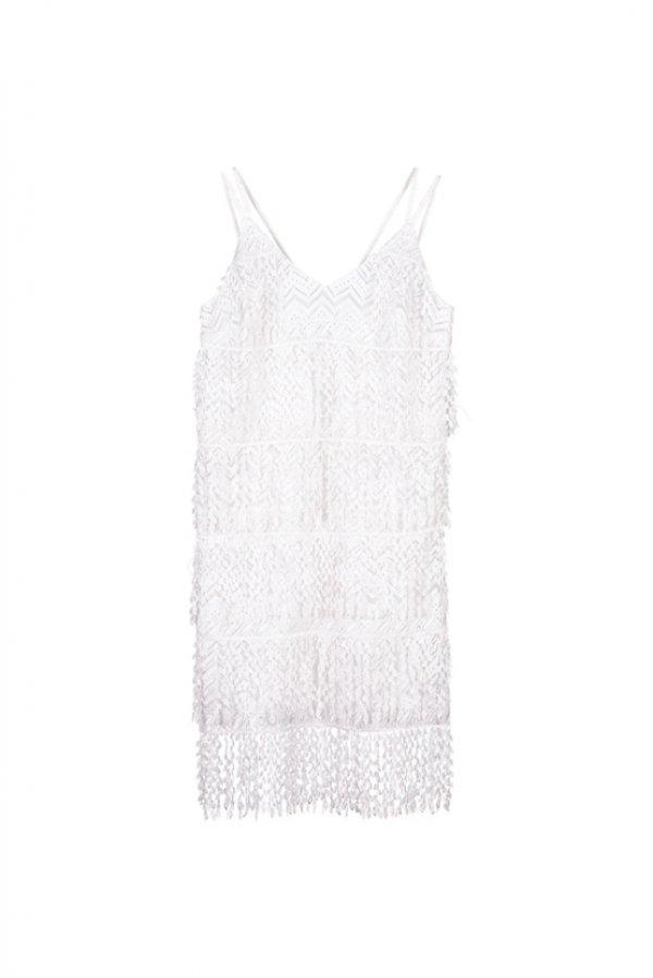 ince askılı kısa elbise modeli