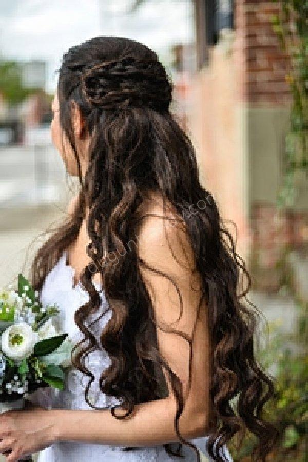 salık saç gelin saçı modeli