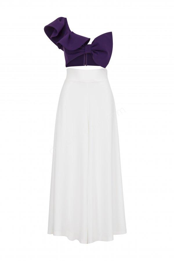 fiyonk detaylı elbise modeli