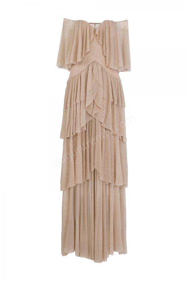 hareketli parça detaylı elbise modeli