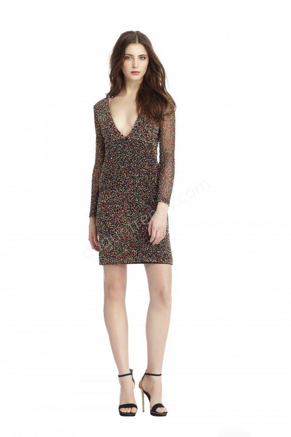 boncuk işlemeli elbise modeli
