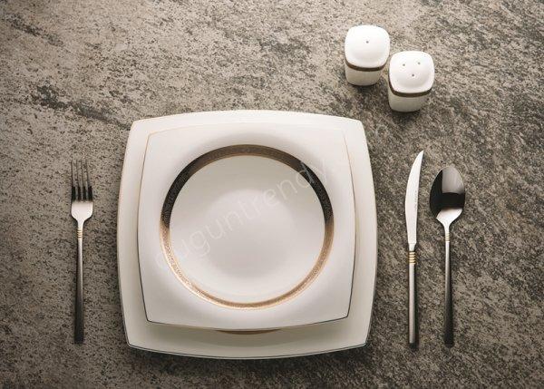 dairesel motifli yemek takımı modeli