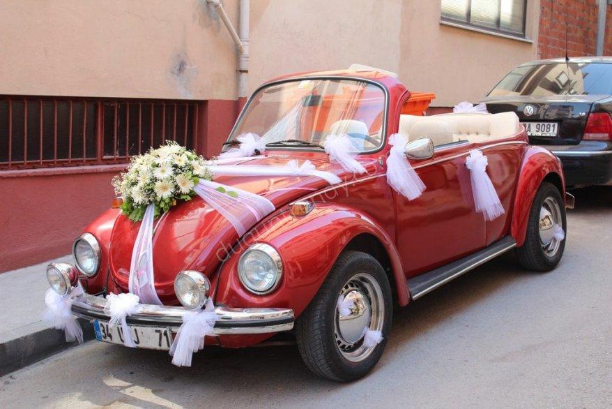düğün günü gelin arabası