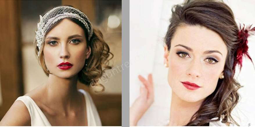Kare Yüz Tipine Uygun Gelin Saçı Model Örnekleri