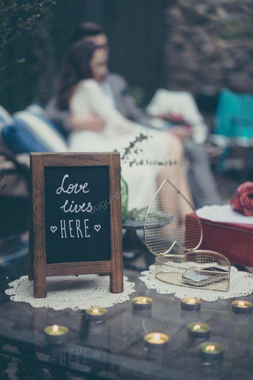 vintage temalı düğün için dantel